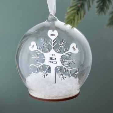 Metallic Family Snowflake Bauble