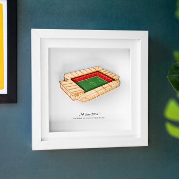 3d Football Stadium Personalised Frame