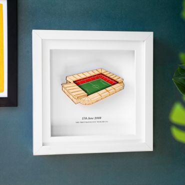 3d Football Stadium Personalised Frame