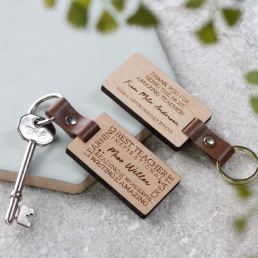Personalised 'Thank You Teacher' Keyring