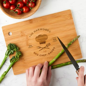 Personalised Engraved Chef's Hat Chopping Board