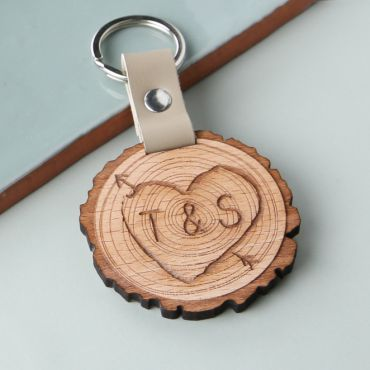 Tree Slice Keyring