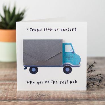 Personalised Truck Load of Reasons keepsake Card