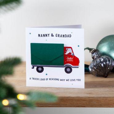 Santa's Truck Loads of Reasons... Keepsake Card