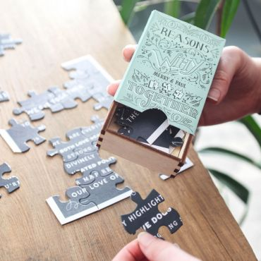Reasons We Fit Together Vintage Matchbox Puzzle