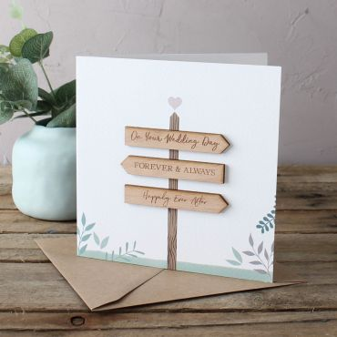 Signpost Wedding Card