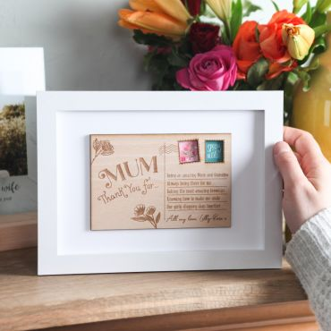 A5 Framed Mother's Day Thank You Postcard
