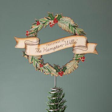 Wreath Christmas Tree Topper