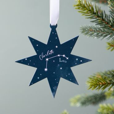 Personalised Zodiac Star Christmas Decoration