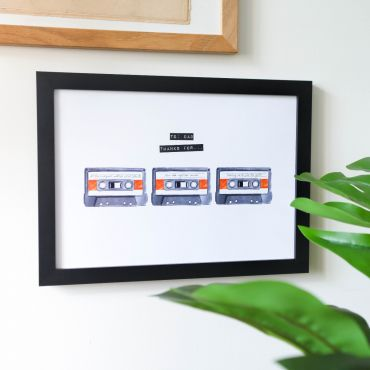 Cassette Tape Reasons You're A Great Dad A4 Print