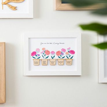 Pink Peonies Reasons I love you A5 Print