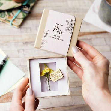 Personalised Forever Daffodils Keepsake