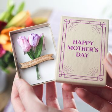 Mother's Day  Forever Tulips With Banner