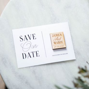 Save our Date Magnet Keepsake Card