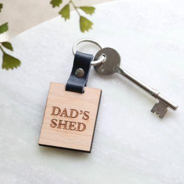 Dad's Keys Personalised Wooden Key Fob
