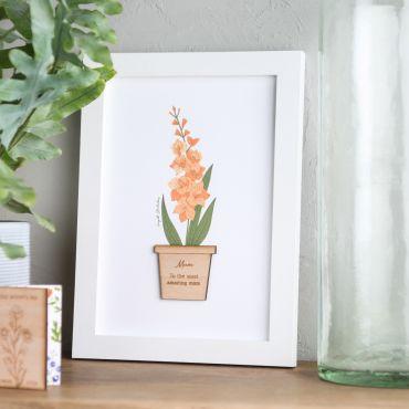 Personalised Birth Flower Print