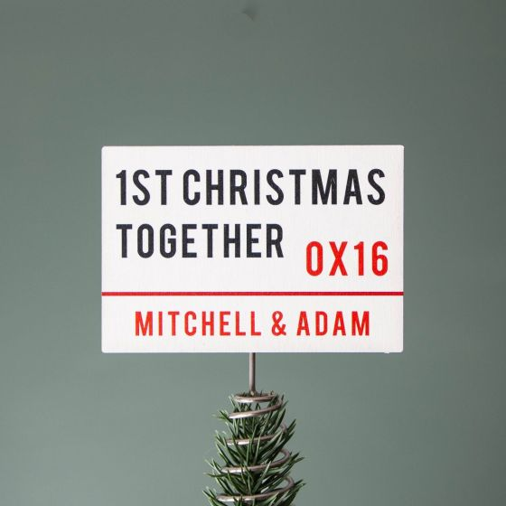 London Street Sign Christmas Tree Topper