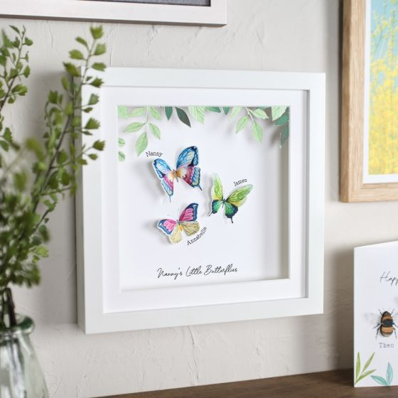 3D Butterfly Family Print