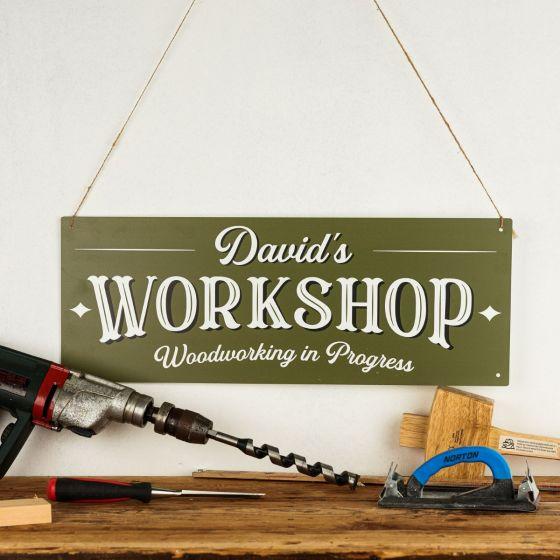 Personalised Metal Workshop Sign