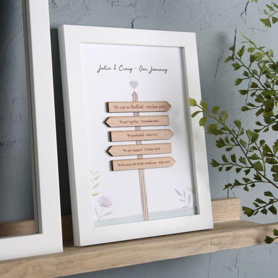 3D Wooden Family Signpost Frame