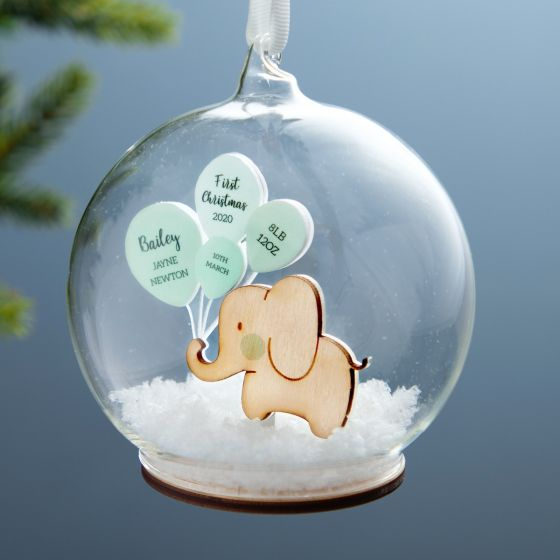 First Christmas Baby Details Bauble