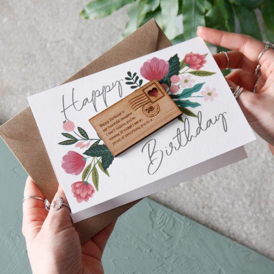Mini Letter Birthday Keepsake Card