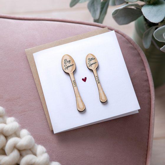 Big Spoon Little Spoon Wooden Keepsake Card