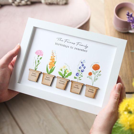 Family Birth Flowers Print