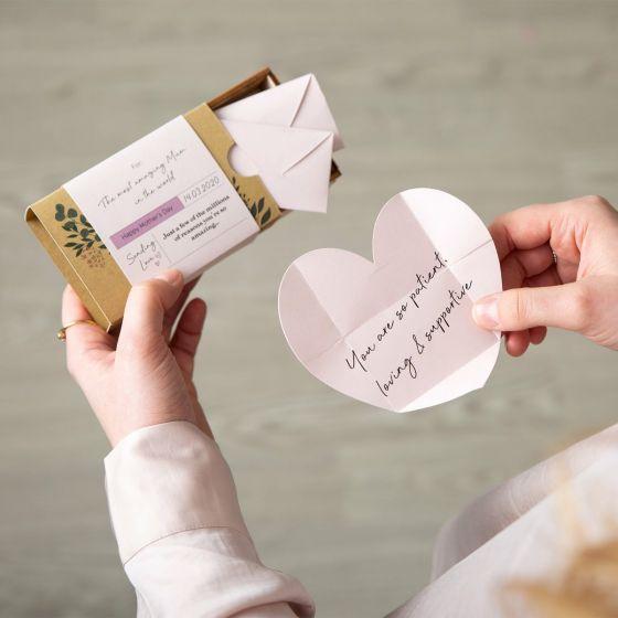 Box of Mini Heart Envelope Reasons I Love You