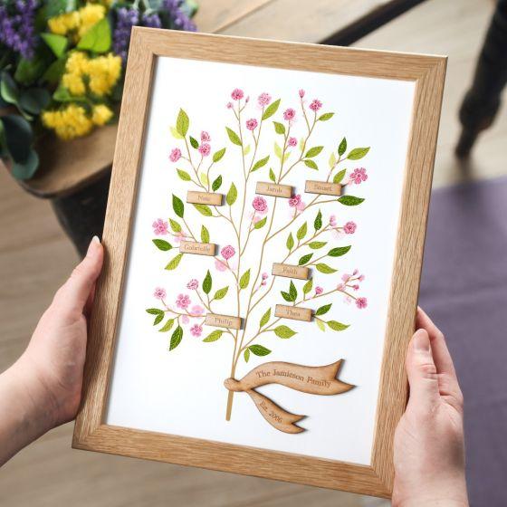 Cherry Blossom Family Tree Print