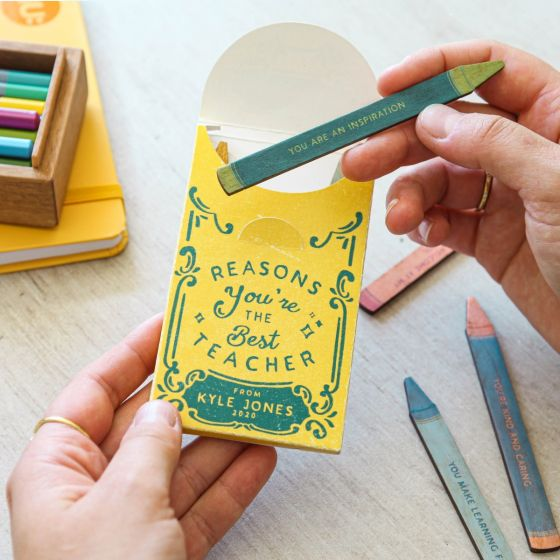 Thank You Teacher Wooden Crayon Keepsake
