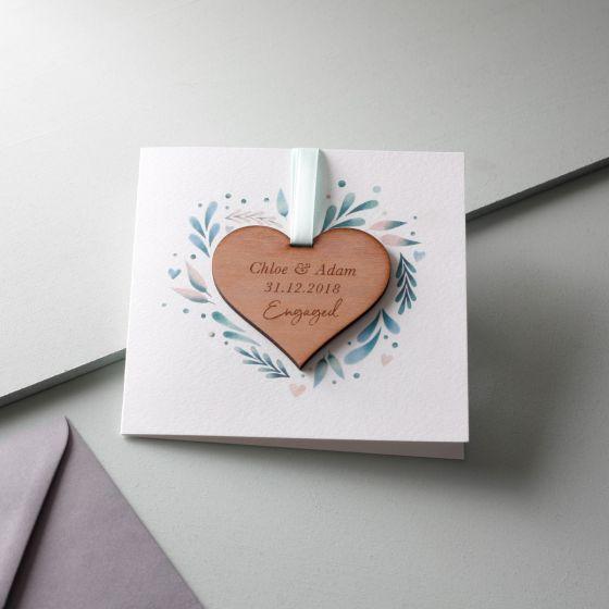 Engagement Keepsake Heart Card