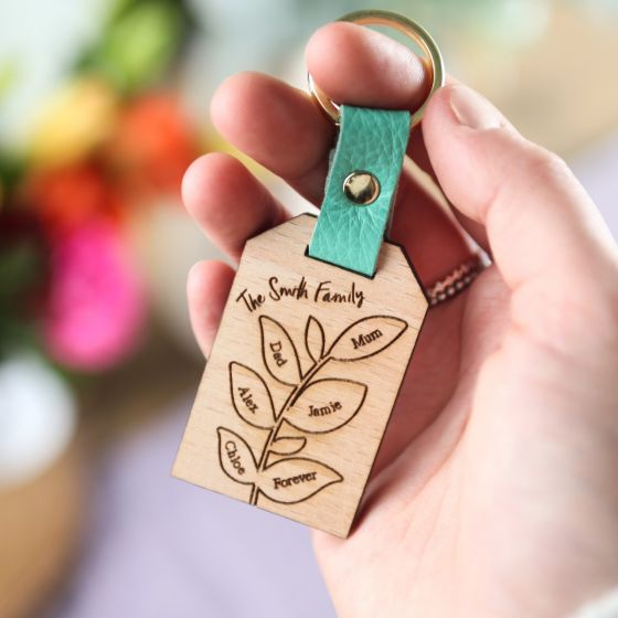 Family Tree Branch Keyring