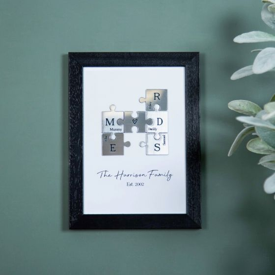 Metallic Family Puzzle Pieces A5 Print