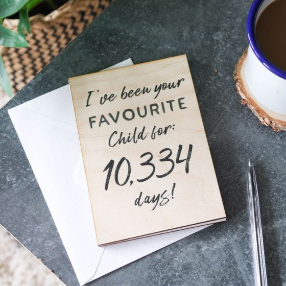 Favourite Child Wooden Time Card