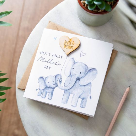 Elephant and Balloon Mother's Day Card