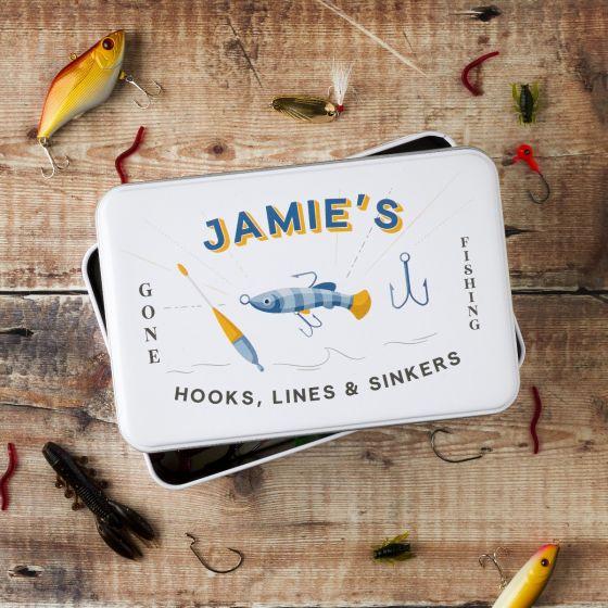 Personalised Fishing Storage Tin