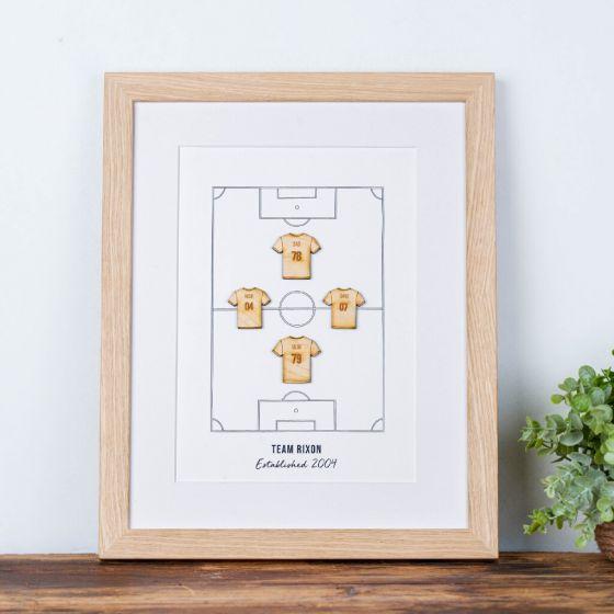 Personalised Family Football Team Print
