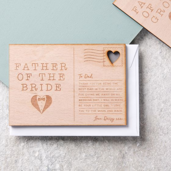 Father Of The…Wedding Thanks Postcard