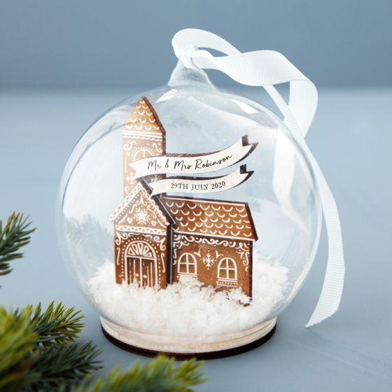 Gingerbread Church Bauble