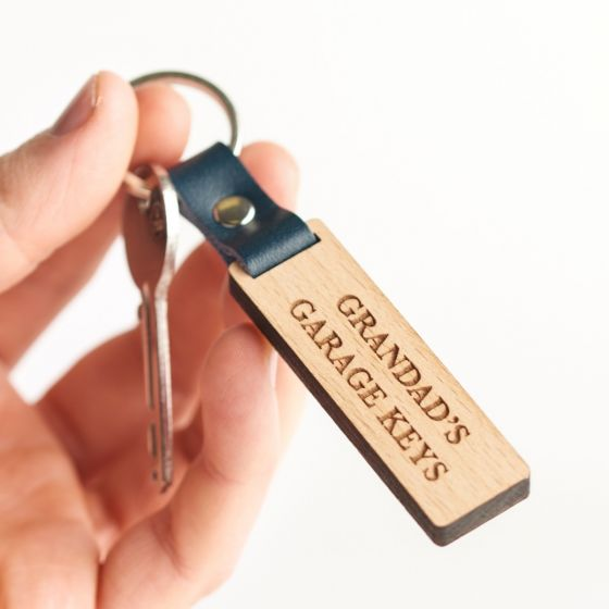 Personalised Engraved Wooden Keyring