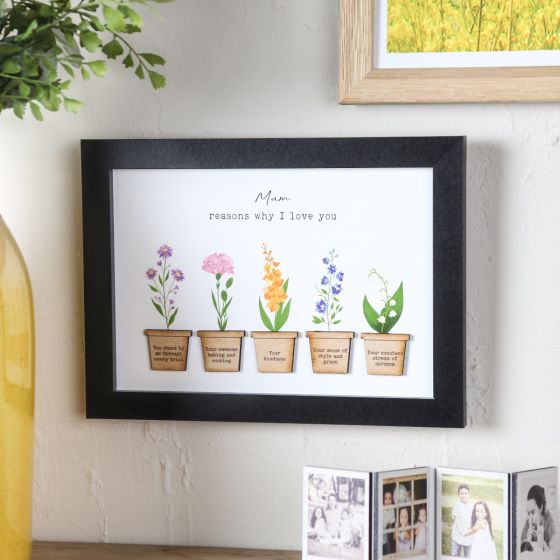 Floral Reasons I Love You Print