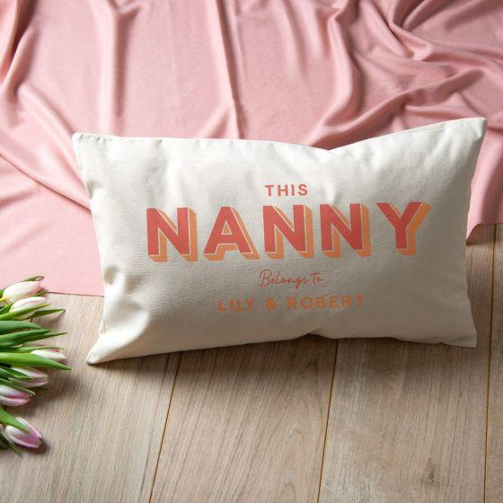 Pastel Typographic Cushion - Orange