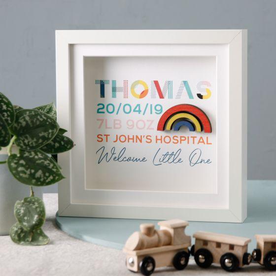 Personalised Colourful Newborn Frame