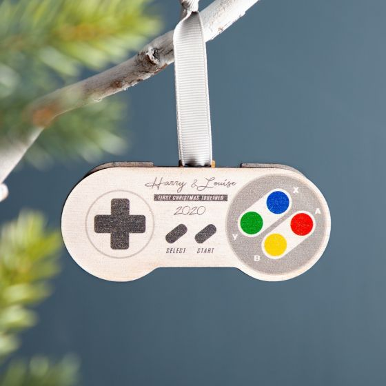 Gaming Controller Personalised Christmas Decoration