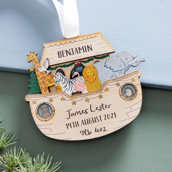 Noah's Ark First Christmas Hanging Decoration