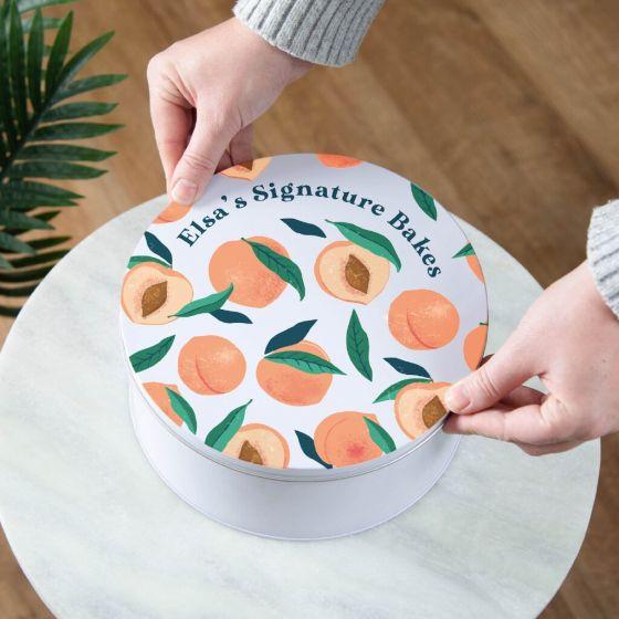 Peach Pattern Design Cake Tin
