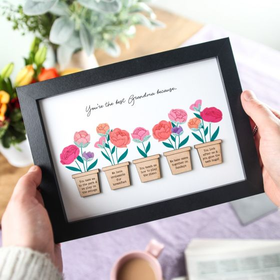 Pink Peonies reasons I love you A5 Frame