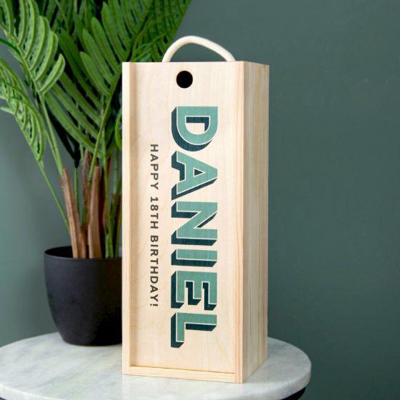 Personalised Birthday Celebration Bottle Box