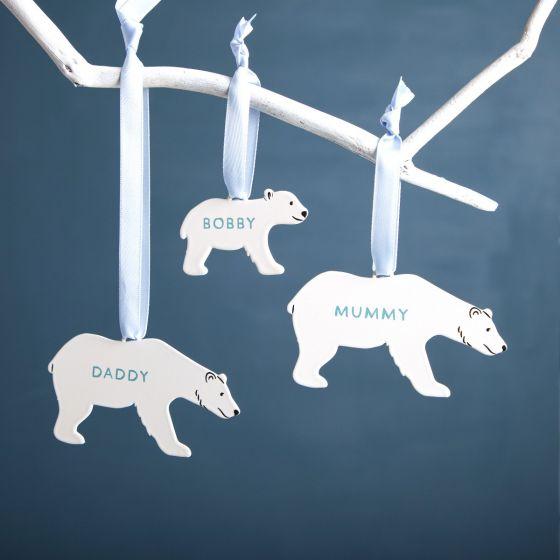 Polar Bear Family Hanging Decorations